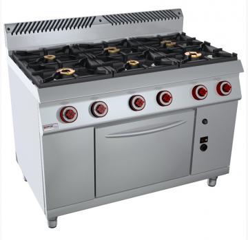 Vendita attrezzature frigoriferi e banchi per ristoranti - Cucina 6 fuochi ...