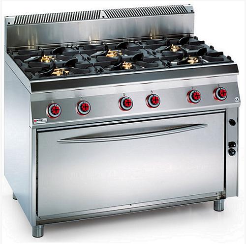 Vendita attrezzature frigoriferi e banchi per ristoranti - Cucina a gas 5 fuochi ...